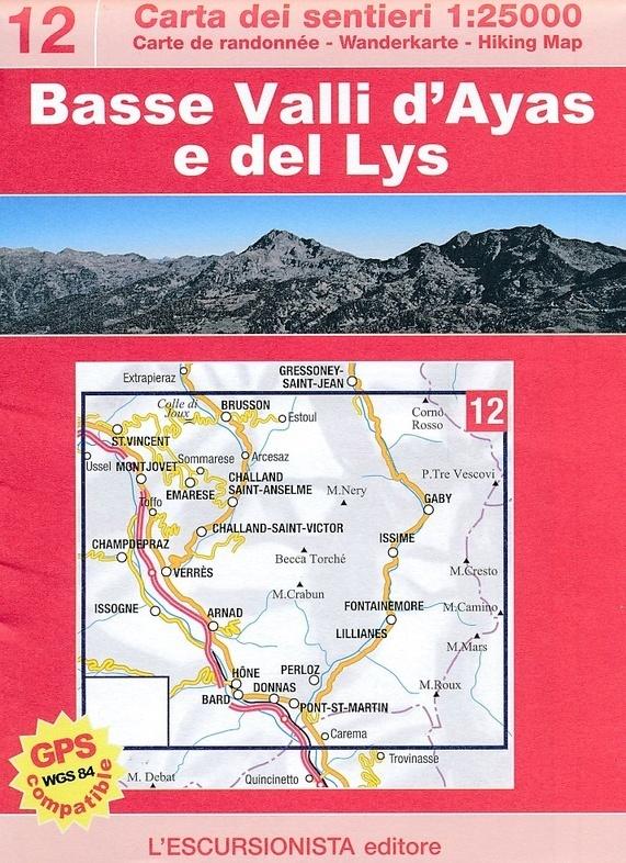 Cartina Della Valle D Aosta Da Stampare.Basse Valli D Ayas E Del Lys 12 Mappa 1 25000